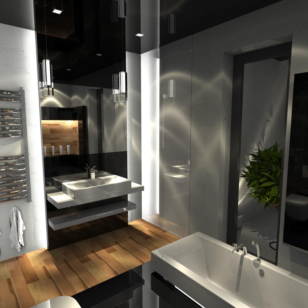 łazienka Szara Z Elementami Drewna Aranżacje Wnętrz