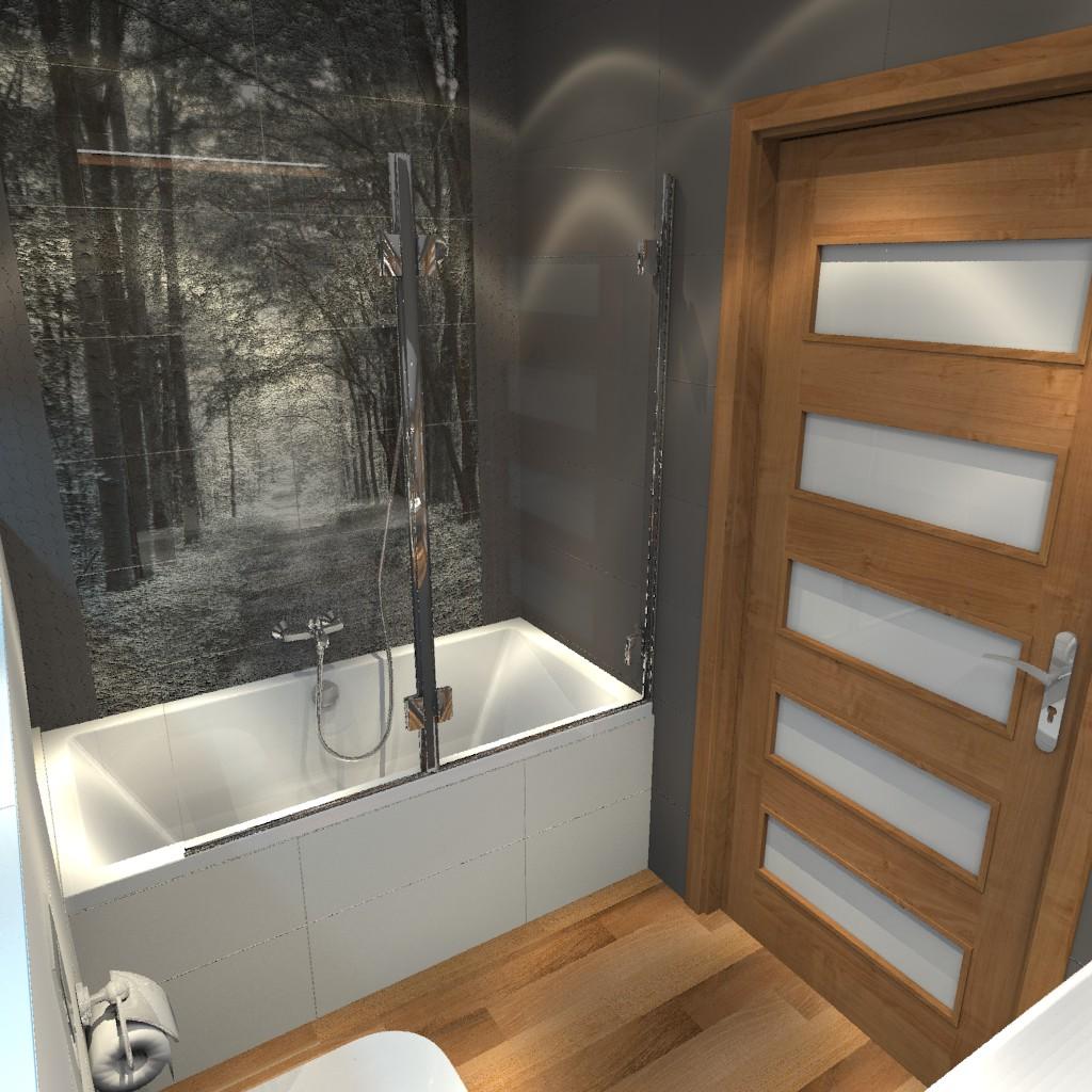 łazienka Biało Szara Z Dodatkiem Drewna Aranżacje Wnętrz